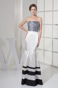 Black and White Strips Mermaid Dresses For Bride Mother in Michigan