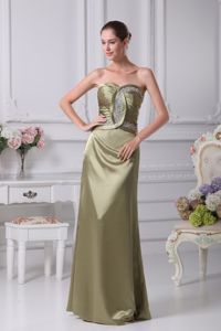 Sweetheart Olive Green Dresses For Bride Mother Beaded in New Mexico