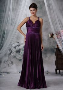 2013 Purple Sheath Straps Beaded Mother Of Bride Dresses for Wedding