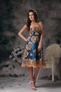 Colorful Printing Appliques Mother Of Bride Dress in Bowling Green