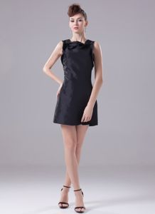 Square Petal Black Taffeta Easton Mother Bride Dress for Wedding