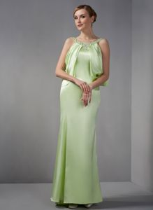 Scoop Beading Spring Green Mother Of The Brides Dress in Raleigh