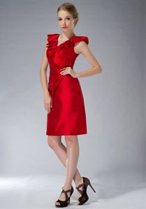Ruching V-neck Taffeta Ruching Mother Bride Dresses in Greensboro
