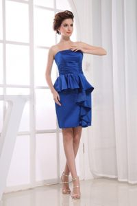 Ruffled Royal Blue Rochester Mother Of The Bride Dress for Wedding