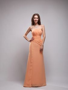 Ruched Orange Chiffon Mother Of The Groom Dresses in New Brunswick