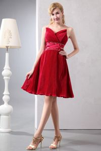 Beading Wine Red Sweetheart Mother Of The Bride Dress in Freehold