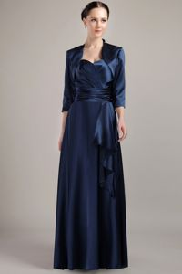 Ruched Belt Halter Navy Blue Mother Bride Dresses in Las Vegas