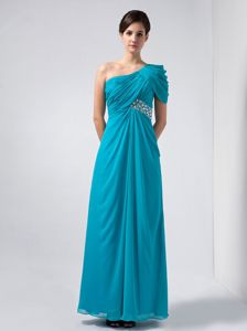 Beading Teal Chiffon Ruched Westborough 2014 Mother Bride Dresses
