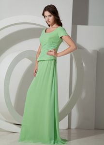 Apple Green Beading Scoop Mother Of The Groom Dresses in Norwood