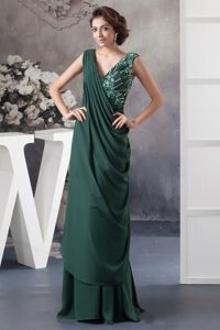 Beaded Beaded Dark Green Mother of the Bride Dress in Shreveport