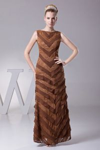 Branford Connecticut Layers Bateau Brown Prom Mother Party Dresses