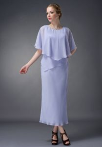 Cloak Scoop Neck Lilac Mother of The Bride Outfits in Oxford Alabama