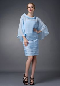 Scoop Ruche Cloak Baby Blue Bristol Connecticut Mother of Bride Dress