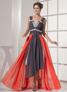 Multi-color Ruched Chiffon High Low Mother Dresses for Hialeah Florida
