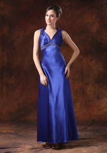 Cool Back Halter Top Royal Blue Mother Talladega Alabama Bride Dress
