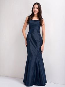 Scoop Neck Navy Blue Mermaid Mother of Bride Dress in Apopka Florida