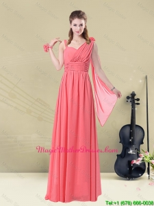 2016 Stunning Asymmetrical Column Ruched Mother Of The Bride Dresses
