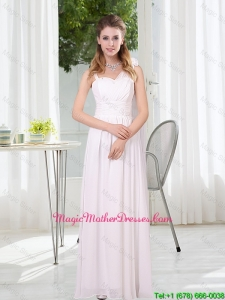 2016 White Empire Ruching Mother Of The Bride Dresses with Asymmetrical