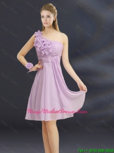 2016 Romantic Hand Made Flowers Sweetheart Mother Of The Bride Dresses with Ruching