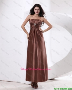 Fashionable Strapless Mother Dresses With Ankle Length