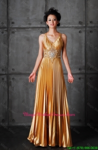 Popular Empire V Neck Mother of bride Dresses with Beading