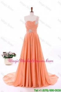 2016 Spring Empire Asymmetrical Classic Mother Of The Bride Dresses with Beading