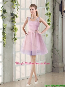 2016 Fall New A Line Straps Mother Of The Bride Dresses with Hand Made Flowers