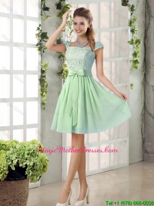 Affordable Square Lace 2016 Mother Of The Bride Dresses with Bowknot