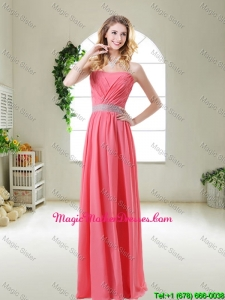 Elegant Strapless 2016 Mother Of The Bride Dresses in Watermelon Red