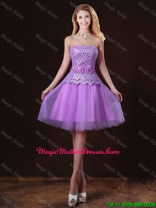 Classical Laced and Appliques Mother Of The Bride Dresses with Strapless