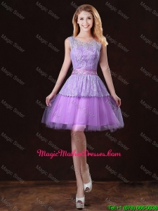 Luxurious Scoop Mother Of The BrideDresses with Appliques and Belt