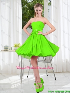2016 Summer A Line Sweetheart Mother Of The Bride Dresses in Spring Green