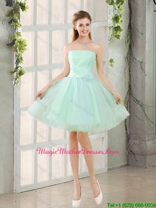 Custom Made A Line Strapless Mother Of The Bride Dresses with Belt
