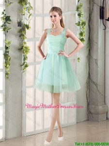 2016 Custom Made A Line Straps Mother Of The Bride Dresses with Ruching