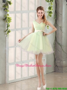 2016 Fall A Line Strapless Short Mother Of The Bride Dresses with Ruching