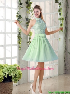 Fashionable 2016 Short Mother Of The Bride Dresses with High Neck