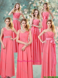 Fashionable Ruched Mother Of The Bride Dresses in Watermelon Red