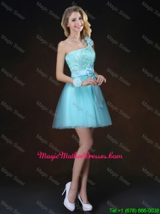 Perfect Bowknot Appliques Mother Of The Bride Dresses with One Shoulder