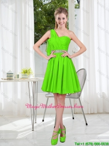 2016 Short One Shoulder Mother Of The Bride Dresses with Beading