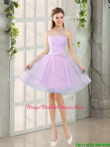 Custom Made A Line Strapless Ruching Mother Of The Bride Dresses with Belt