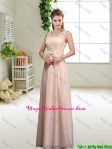 Pretty Laced and Bowknot Mother Of The Bride Dresses with Scoop