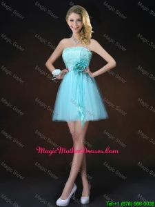 Cheap Lace Short Mother Of The Bride Dresses in Aqua Blue