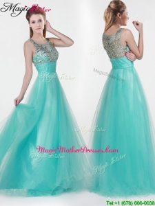 2016 Lovely Empire Scoop Beading Mother Of The Bride Dresses