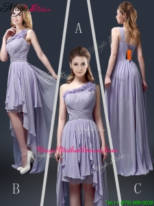 New Style One Shoulder High Low Ruffles Mother Of The Bride Dresses