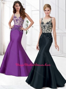 2016 Latest Mermaid Scoop Mother of The Bride Dress with Beading and Appliques