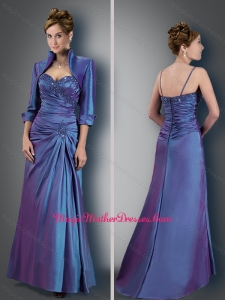 2016 Customized Spaghetti Straps Appliques Mother of The Bride Dress with Jacket