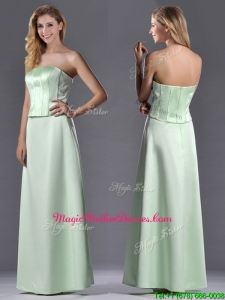 Discount Column Ruching Satin Mother Of The Bride Dress with Strapless