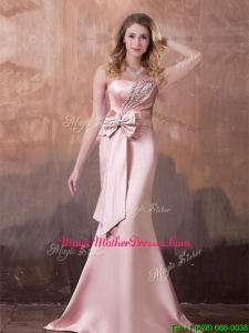 Gorgeous Mermaid Brush Train Mother Of The Bride Dress with Beading and Bowknot