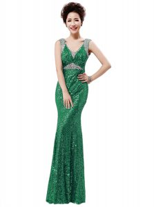 Sequined Sleeveless Floor Length Mother Of The Bride Dress and Sequins
