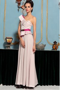Floor Length Pink Mother Of The Bride Dress Organza Sleeveless Pattern